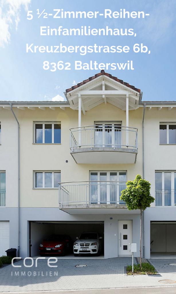 Reihen-Einfamilienhaus Balterswil kaufen, Haus Balterswil kaufen, Core Immobilien