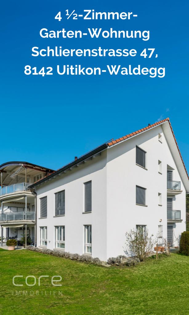 Garten Wohnung Uitikon-Waldegg kaufen, Wohnung Uitikon-Waldegg kaufen, Core Immobilien